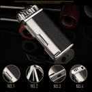 Honest PU Leather Butane Lighters Gas Refillable Cigarette Cigar Lighter with Pipe Smoking Gadg
