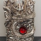 brand  3D Hand-carved lighters heavy armor Handmade Tibetan Silver Dragon ZPO BC1434