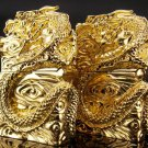 lighter brand Hand-carved Five-sided coiled gold dragon lighter BC1457