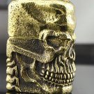 ZHY Genuine  heavy armor copper gold skull Ghost Rider with box silver liner lighter BC1458