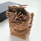 OGRM Metal Crafts  Bronze Casting Chinese Dragon Lighters Cigarette Oil Lighter Men's Gift