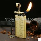 Vintage Style Retro gas lighter creative inclined pipe Lighter Repeated Use Cigarette grinding