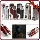 High Quality Metal Jet Double Flame Cigarette Butane Gas Lighter W/Cigar Punch BC1715
