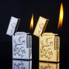 Creative individual metal double sided ragon phoenix Grinding wheel inflatable lighter BC1835