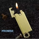 Honest ultra-thin copper inflatable Gas lighter, Classic butane wheel high-grade cigarette ligh
