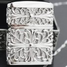 18*44*63cm  shell 110g S925 sterling pure silver original Hollow flower handcarved  lighters wi