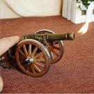 Metal cigarette lighter towed howitzer model military handmade souvenirs nostalgia retro orname