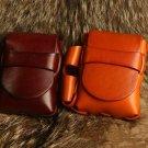 Vintage leather cigarette packs Disposable lighter bag Flip wallet cigar case box  cigarette co