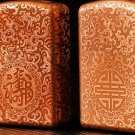 Brand lighter brass Shield Carved  Fortune longevity lighter overall Case cover TC4 War Armor