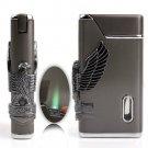 Eagle Pattern Cigarette Cigar Lighter Jet Flame Butane Lighter Tobacco Smoking Lighter BC2003