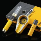 PARTAGAS Luxury Gadget Black Windproof Torch Jet Flame Cigarette Cigar Lighter Travel Tube Meta