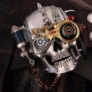 handmade Steampunk style Metal chain skull belt buckle+ with extar one lighter ZPO BC2046