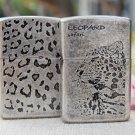 The lighter The ancient silver leopard leopard grain surface processing Spend a leopard kerosen