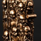 Five sides carved ZPO brand relief  6.1*4.8*2.5cm copper  brass handmade baby lighter BC2064