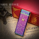 20167usb charging lighter windproof personalized custom metal thin electronic cigarette electri