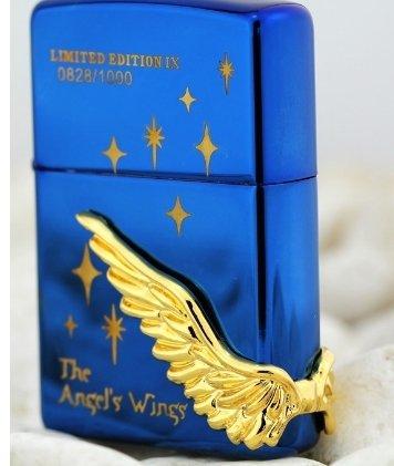 wholesale 3pcs/lot lighter lighter silver liner Star lighter blue ice gold wing Angel BC2124