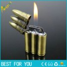 12pcs/lot Bullet shape cigarette lighters Butane Windproof gas lighter Green Arrow Flame LIGHTE
