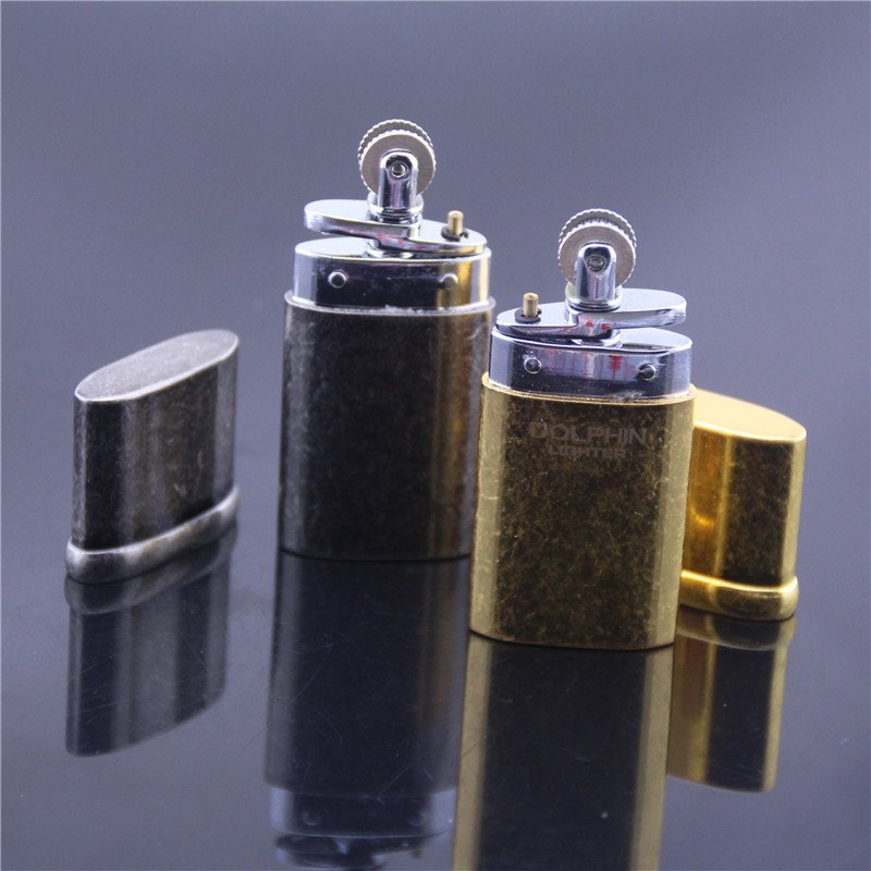 High-quality classic retro vintage oil lighter  gasoline lighter,Grinding Wheel Flint Kerosene