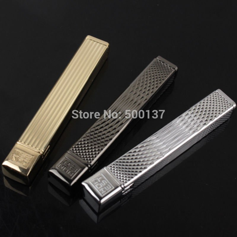 Slim Metal Plating Flint Wheel Portable Gadget Refillable Butane Gas Cigarette Lighter BC2248