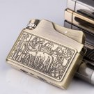 Kerosene lighter restoring ancient ways, creativity ultra-thin pure copper windproof lighters,