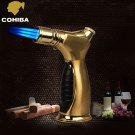 Luxury Fashionable COHIBA Windproof Brand  Three Torch Jet Flame Cigar Cigarette Lighter BC2286
