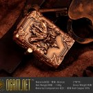 OGRM Crafts Bronze Lighter Embossing Charging Arc Lighters Metal Bronze Kerosene Cigarette Diab