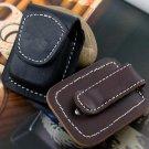 Oil Kerosene Lighter Cow Leather Case Molle Waist Pack Handmade Cover Bag Brown Black Color BC2311