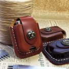 Kerosene Lighter Cow Leather Case Waist Pack Handmade Cover Bag Brown Coffee Color BC2312