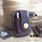 Brand Kerosene Lighter Cow Leather Case Waist Pack Handmade Cover Bag Brown Coffee Color BC2313