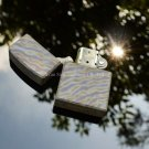 Titanium TC4 Cigarette Oil Lighter Case / Shell / Cover 1mm Thickness Material Flame Grain Surf
