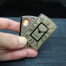 watch gold rechargeable battery metal lighter windproof men portable love no gas smoker electro