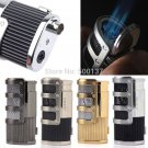 High Quality With Cigar Punch Jet Torch Flame Cigarette Cigar Butane Gas Lighter BC2323