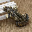 Metal Crocodile Shaped Windproof Jet Flame Gas Refillable Smoking Cigar Lighter Cigarette Light