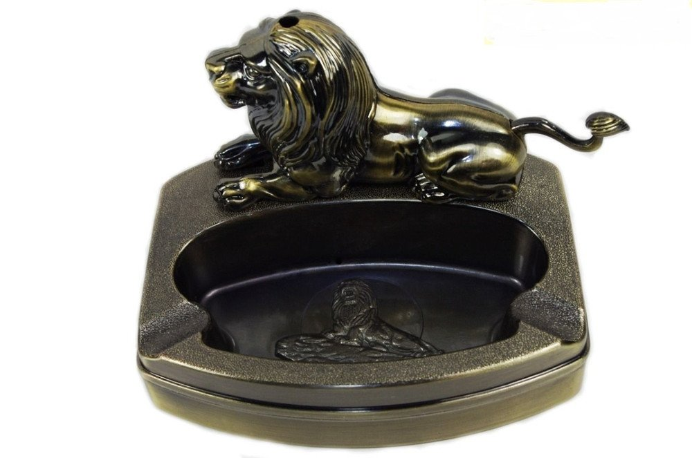 Lion Shape Personality Desktop Gas Refillable Cigarette Lighter Smoking Ashtrays Lighters BC2382