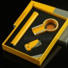 Cigar smoking accessories Double Jet Flame Butane Cigarette Torch Lighter with metal mini cigar