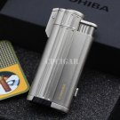 COHIBA Gadgets Multifunctional Metal 3 Torch Jet Flame Wind Resist Refillable Gas Cigar Lighter