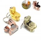 Mini Metal Toilet Shaped Flame Lighter Flint Refillable Butane Gas Cigarette Cigar Lighter BC2507