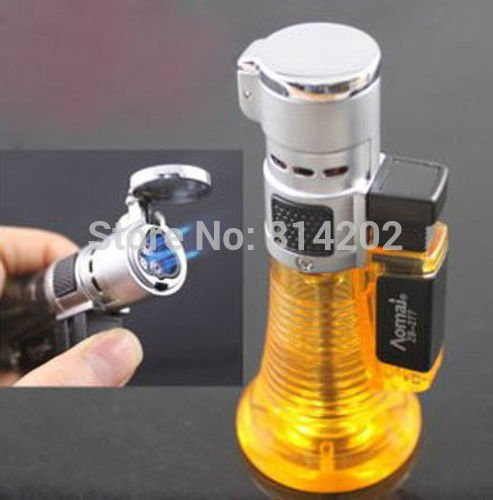 Windproof Triple Nozzles Jet Torch Flame Cigar Lighter Refill Butane Gas Lighter BC2508