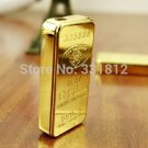 1pc 2015 new gold lighter individuality creative ultra-thin metal gas flame cigarette lighter B