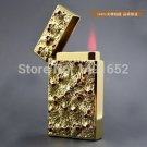 CL631 Golden Skeleton Titanium electronic sensor windproof lighter gift Ultra thin type cigaret