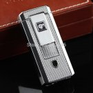 FREE SHIPING COHIBA Double Torch Flame Cigar Lighter w/ cigar punch pocket Cigar smoking Gas Li