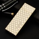 Ultra-thin windproof lighters metal electronic cigarette lighter for men and women fashion gif
