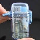 2pcs Windproof Cigarette Lighter Waterproof Gas Refillable Cigar Jet Butane Lighter BC2672