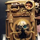 Hand-made steampunk doomsday hunter mechanical punk five-sided decoration gear Skull head lig