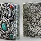 dragon skull S990 sterling silver handmade carved flower  lighters 5.5*4.1*1.9cm BC2706