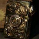 Pure copper armor Handmade skull ZPO Mechanical Gear Mechanical Power Lighter  BC2743