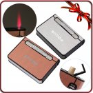 Feer Shipping Focus High Quality 2-in-1 tion Butane Lighter Ultrathin Automatic Cigarette Case