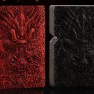 red wood Hand made embossed kerosene  Dragon  lighters with zpo brand silver liner  BC2777