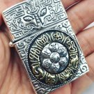 AGYC 56*45*2mm S925 sterling silver Six sides hand carved retro relief silver Six words of mant