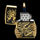 Metal wheel lighter inflatable gas dragon claw clamshell relief dragon lighter BC2803